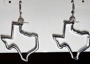 TEXAS outline/shaped sterling silver earrings